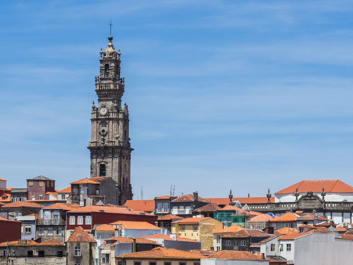 View of Clergios Tower from Porto Cathedral