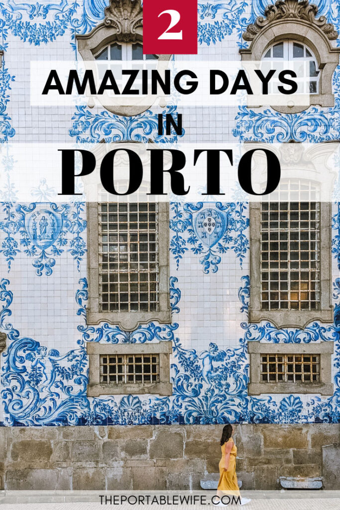 2 Days in Porto Itinerary - girl walking by Igreja do Carmo tiles