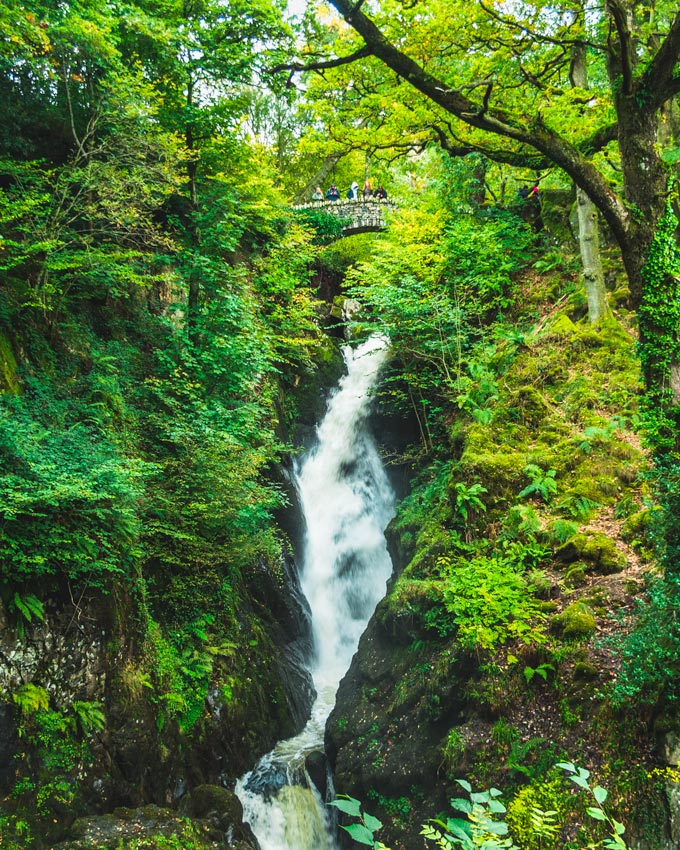 Visiting Aira Force Waterfall, one of the best things to do in the Lake District for couples