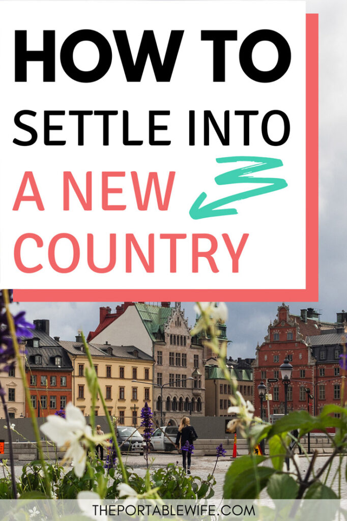 How to settle into a new country - plants and colorful houses in Stockholm