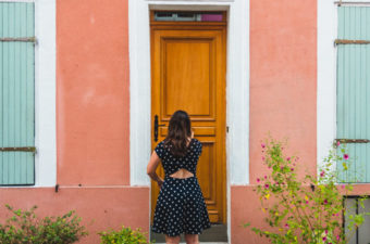 Starting a new life abroad - opening a door in Paris