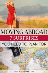 Starting a new life abroad: 7 surprises you need to plan for - split woman with suitcase and map of the world