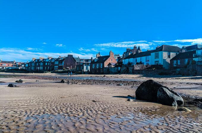 North Berwick Beach, a UK road trip itinerary destination