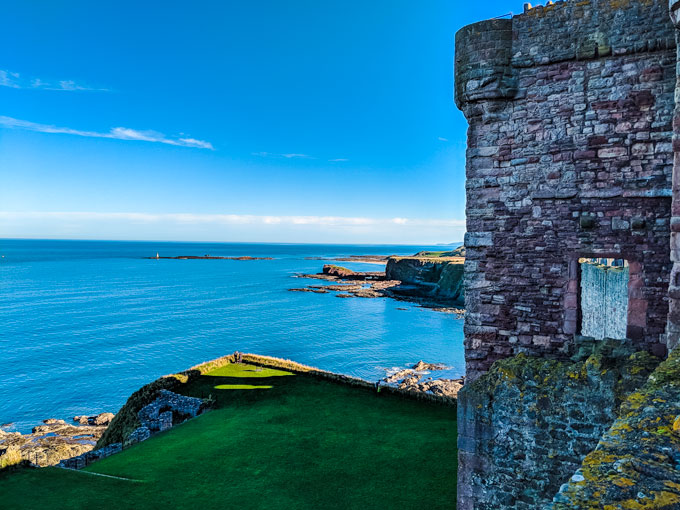 Tantallon Castle in North Berwick Scotland