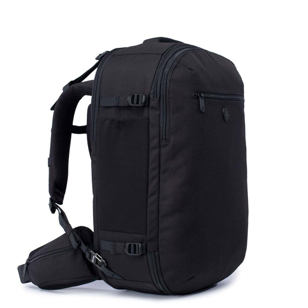 Isolated image of black Tortuga Setout backpack.