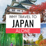 Why travel to Japan alone - collage of Nagoya castle, bamboo forest, and Nara deer park