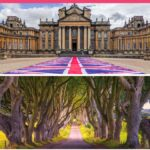 """Collage of palace, forest, and castle, with text overlay - """"the ultimate UK bucket list: 50 things to do""""."""
