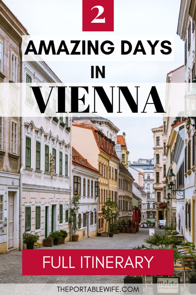 2 Days in Vienna Itinerary - Beautiful cobblestone street with shops and cafes