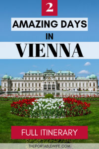 2 Amazing Days in Vienna Itinerary - Belvedere Palace with red and white tulips