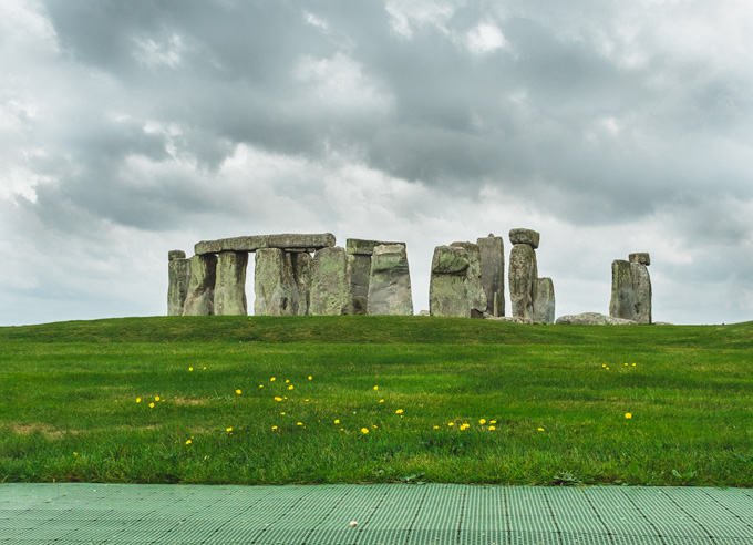 View of Stonehenge UK