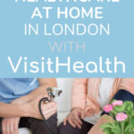 How to get healthcare at home in London with VisitHealth - nurse taking woman's blood pressure