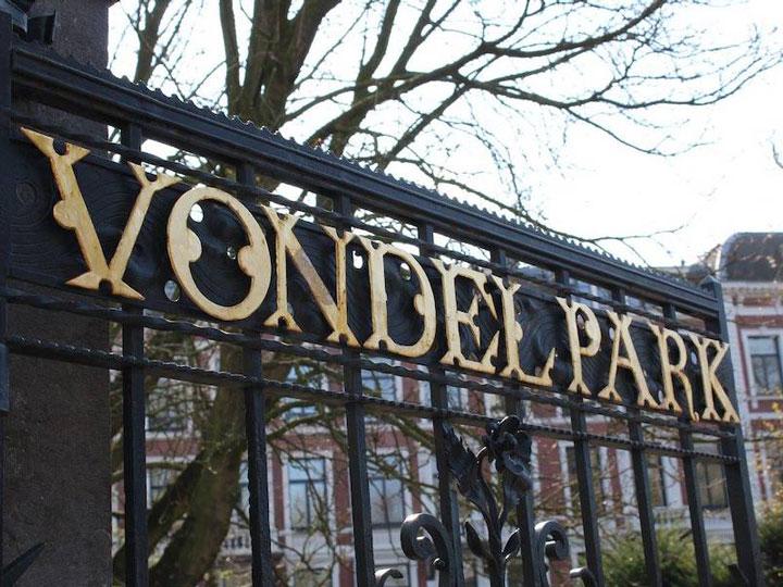 Amsterdam Vondelpark sign