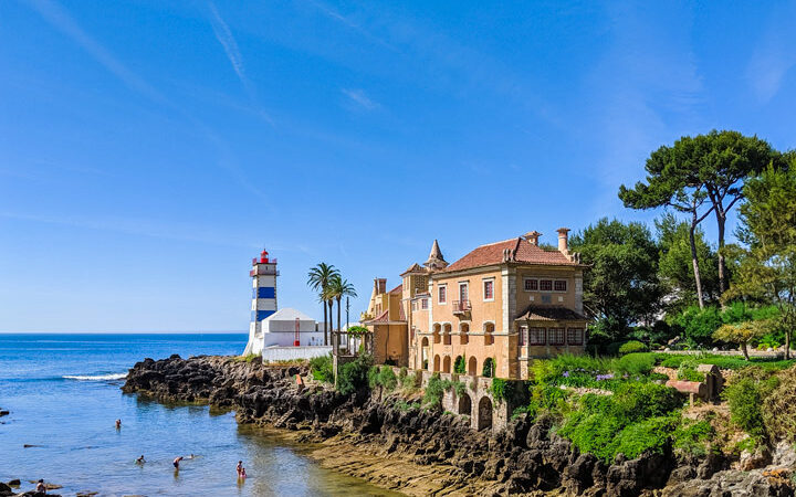 What to do in Cascais: day trip guide - View of Lighthouse and beach