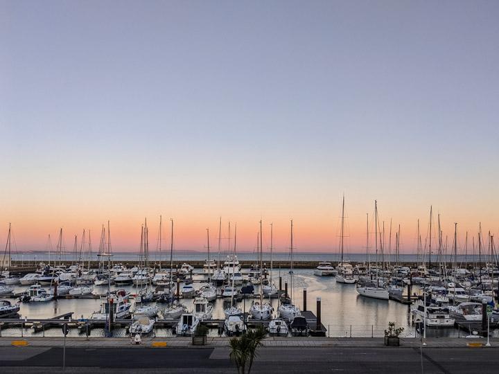 Cascais Marina at sunset